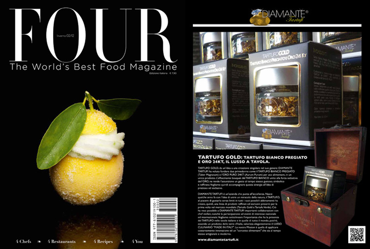 DIAMANTE TARTUFI & FOUR The World's Best Food Magazine (The Best Truffle in the World)