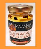 MIELE DI ACACIA ITALIANO AL TARTUFO BIANCO 110 Gr - Italian Acacia Honey with White Truffle Oz. 3,88 (Naturale e Genuino) Made in Italy
