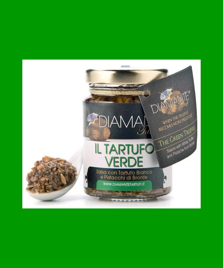 IL TARTUFO VERDE 80 Gr - Tartufo Bianco Pregiato e Pistacchi di Bronte -The Green Truffle 2,82 Oz (with White Truffle and Pistachios from Bronte - Sicily)